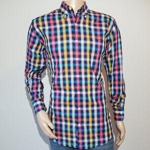 Men's Peter Millar Medium Shirt Long Sleeve Button